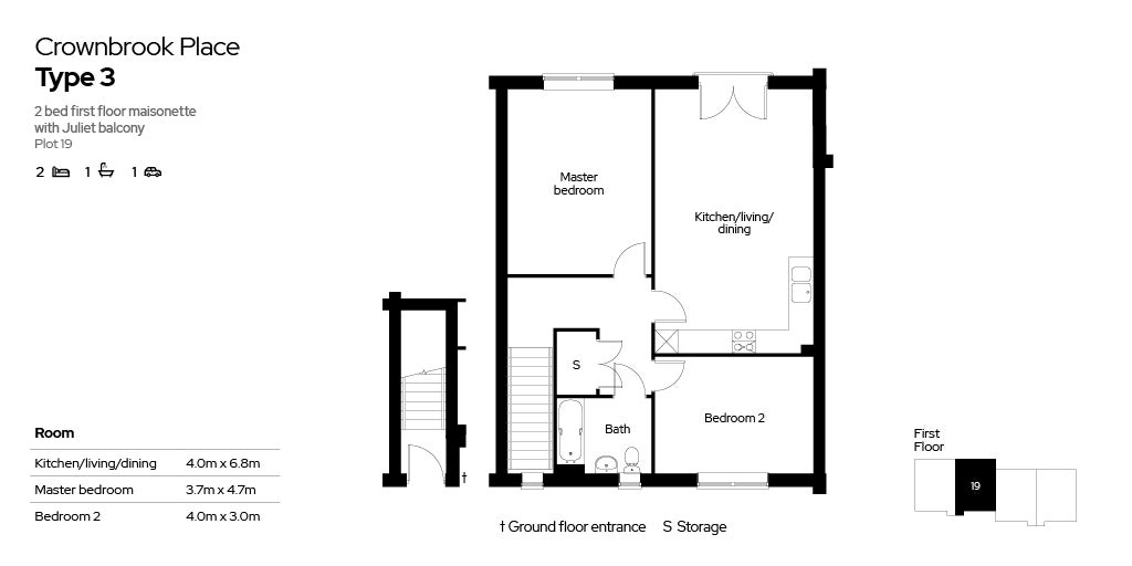 Crownbrook Place, plot 19 floor plan