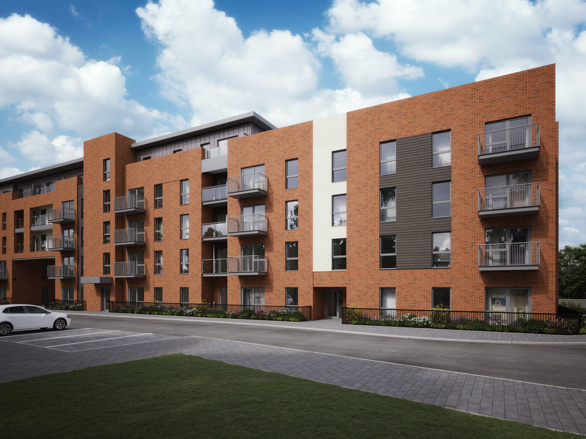 Exterior CGI of Centenary Quay Plots 5045-5057