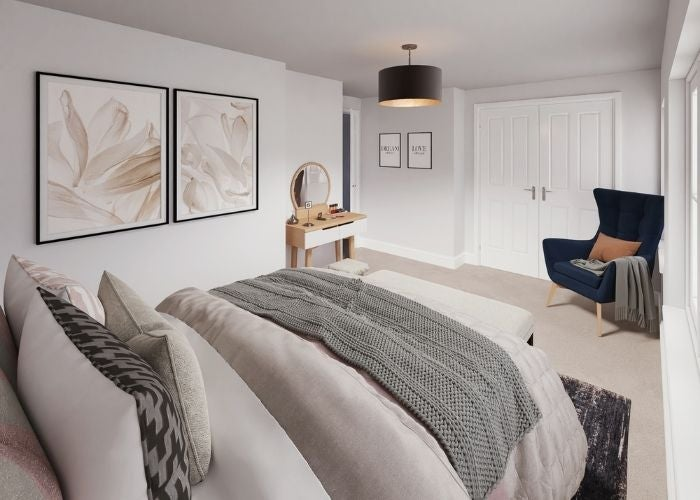 Modern bedroom CGI