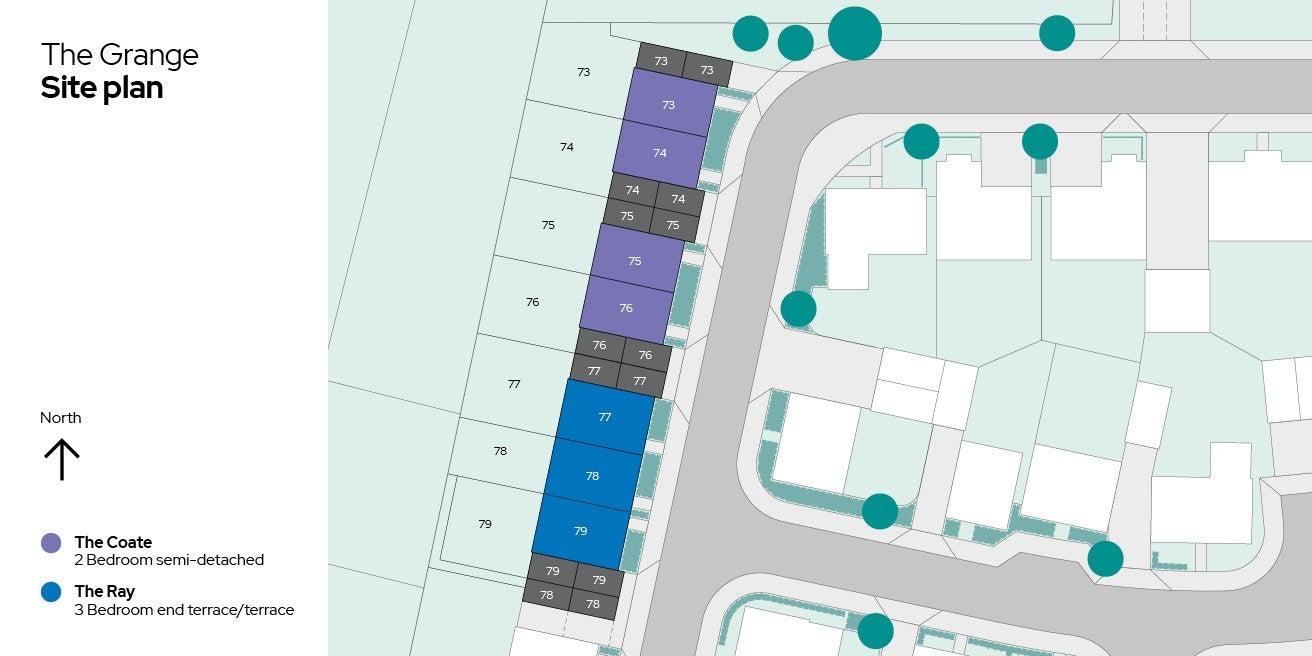 The Grange Siteplan Plots 73-79