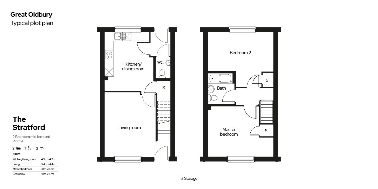 Great Oldbury Floor Plan Plot 34