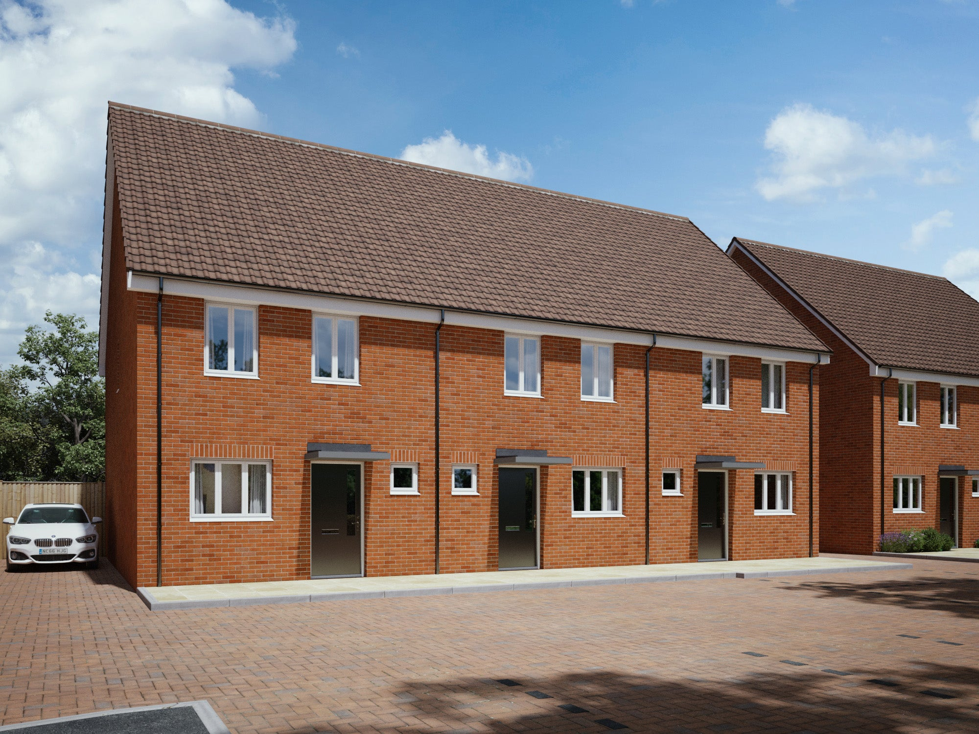 Crownbrook Place - houses CGI (plots 25 - 27)