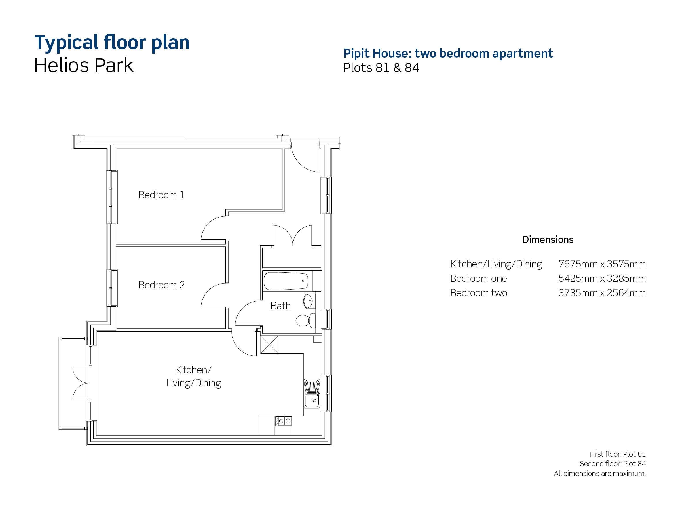 Helios Park plot 81 floor plan