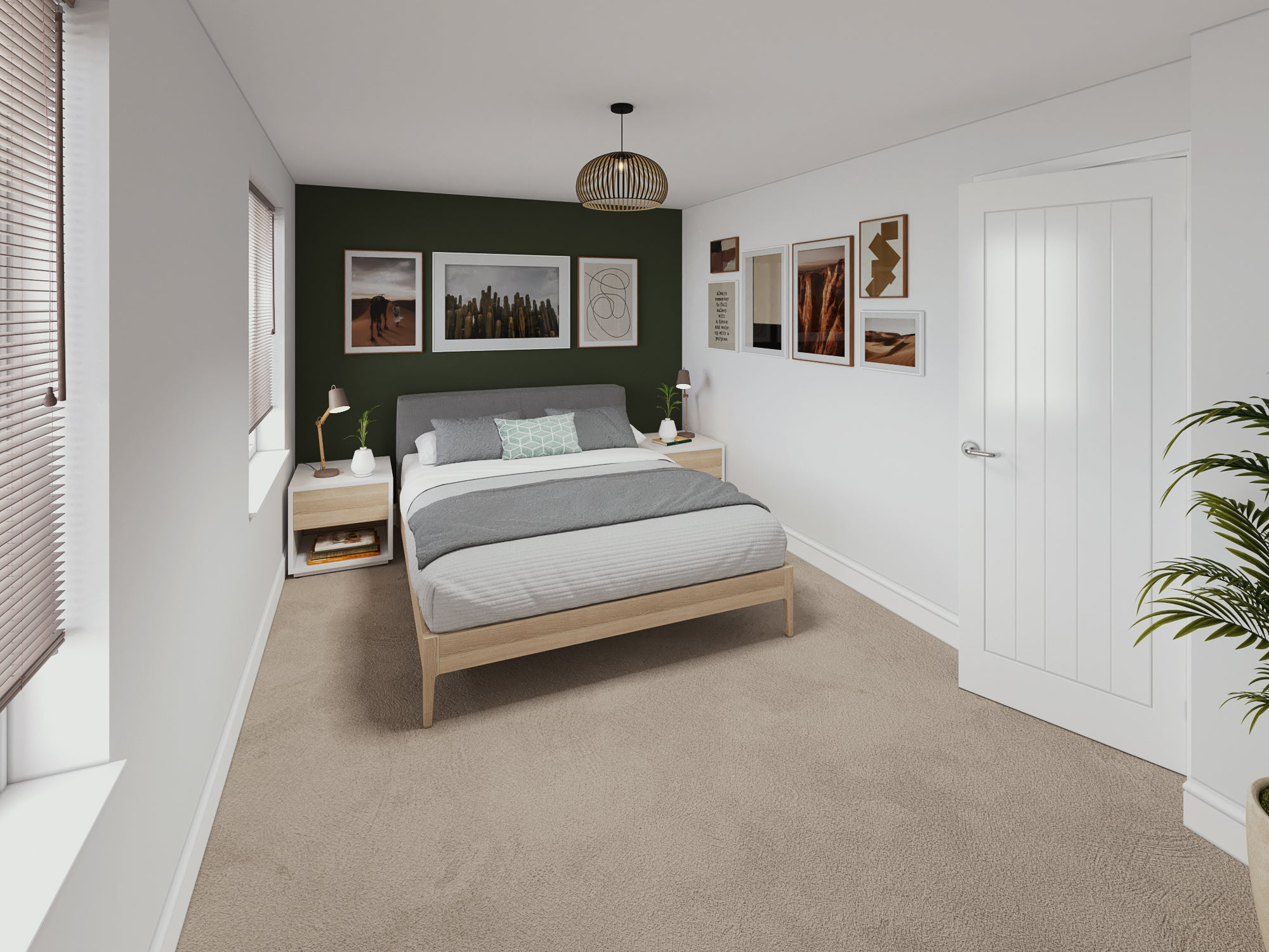 Calder Close interior CGI Bedroom