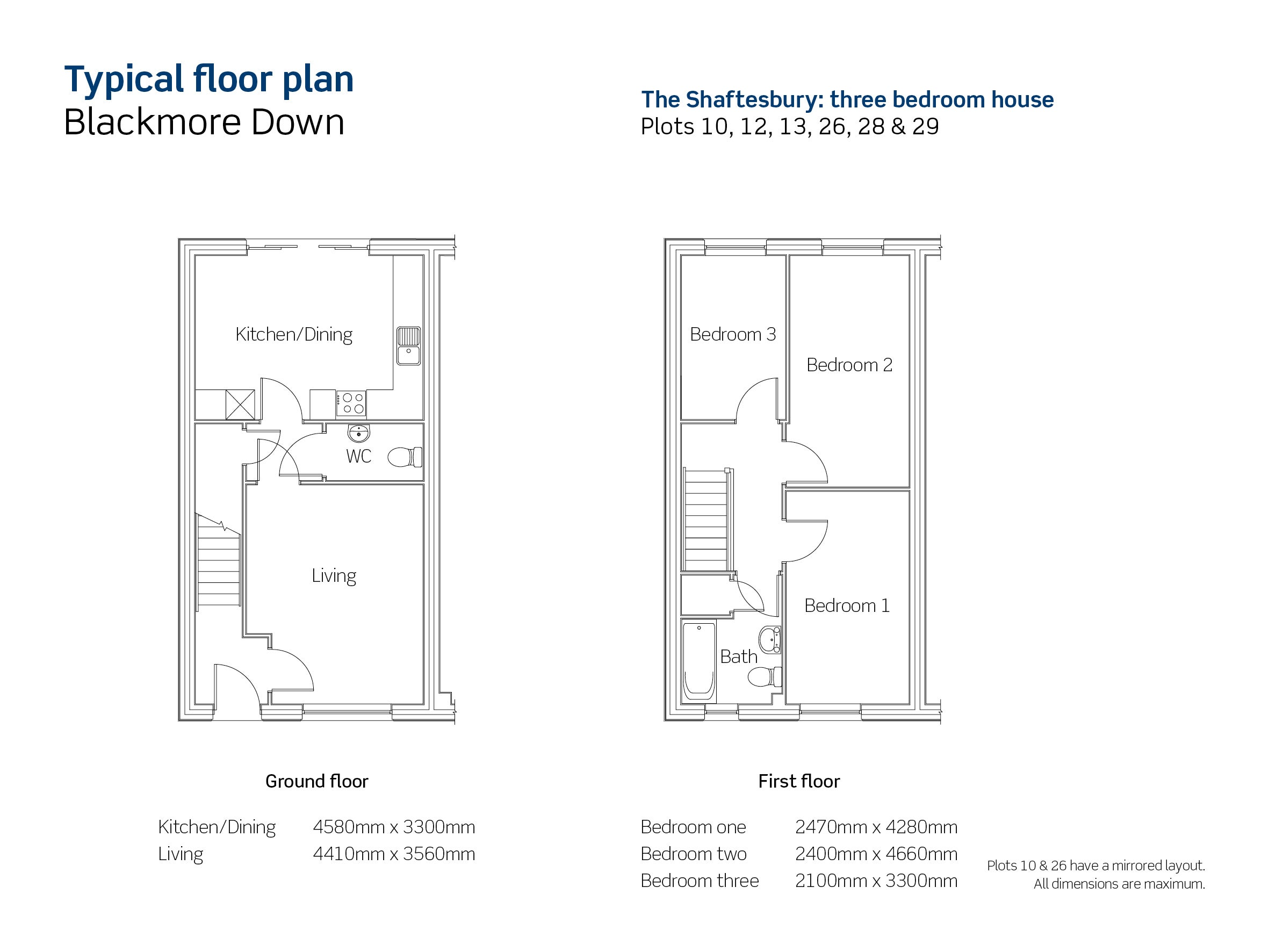 Drawing of Blackmore Down The Shaftesbury floor plan