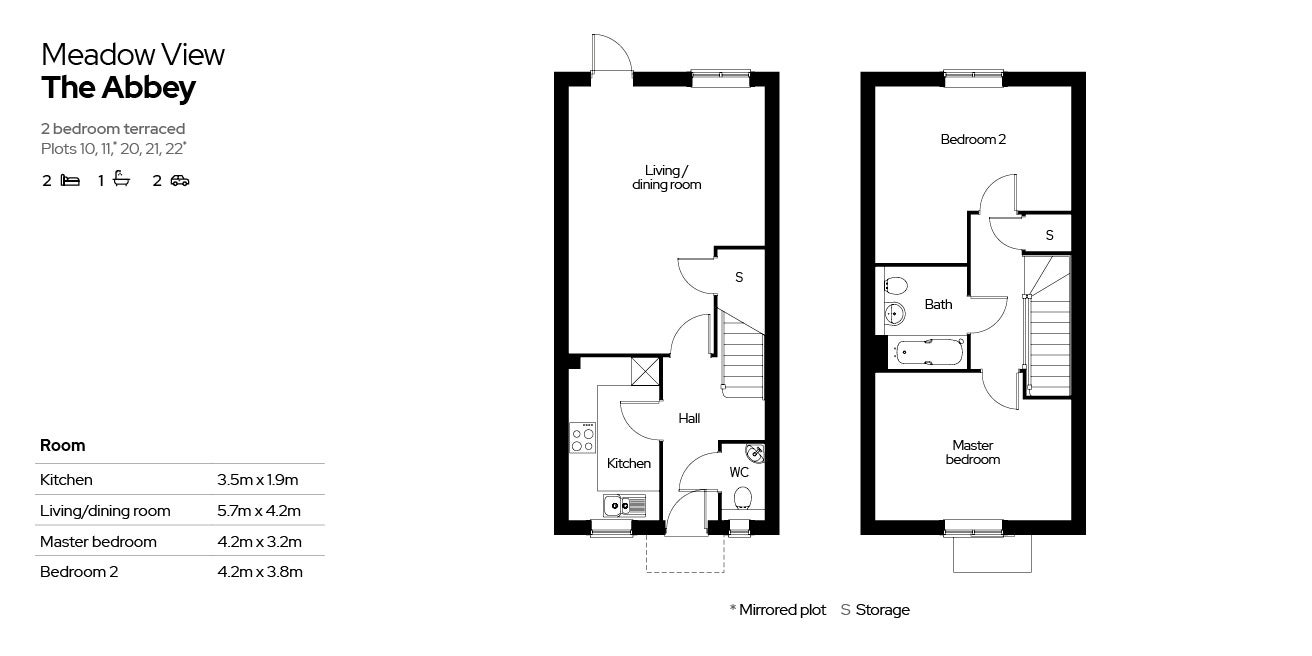 Meadow View, The Abbey house type floor plan
