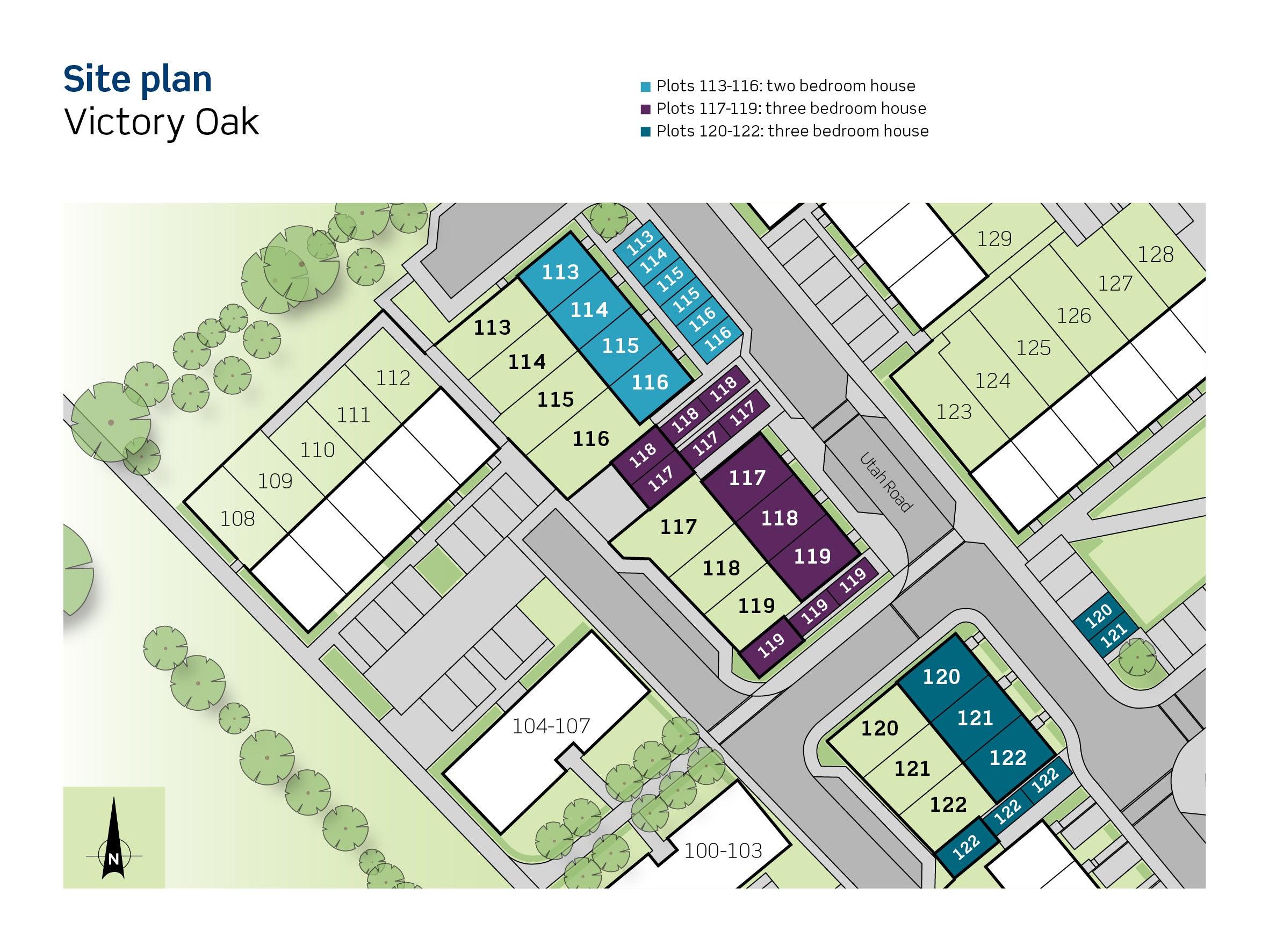 Drawing of Victory Oak site plan