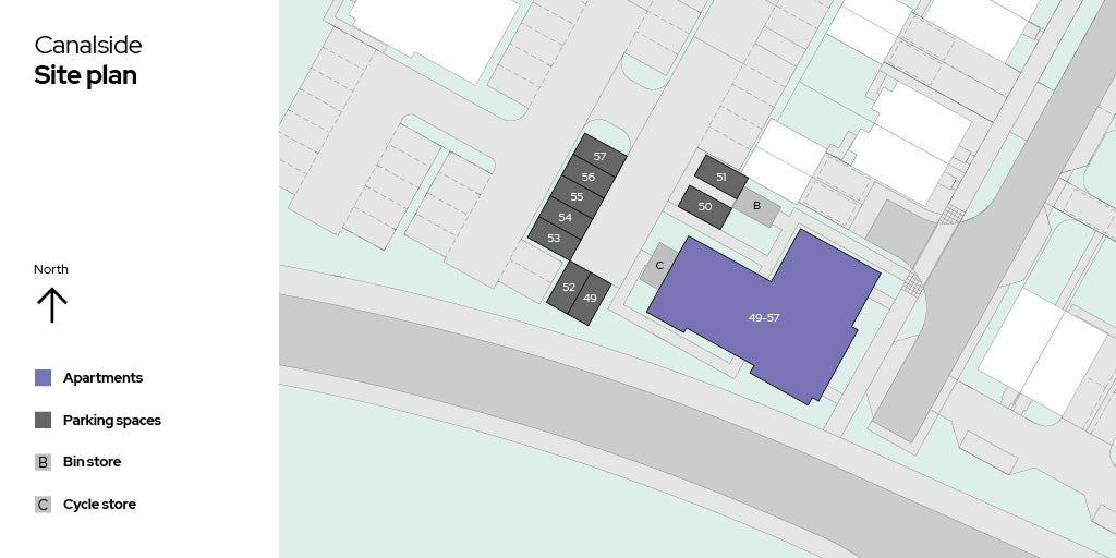 Canalside Sitemap - Plots 49 - 57