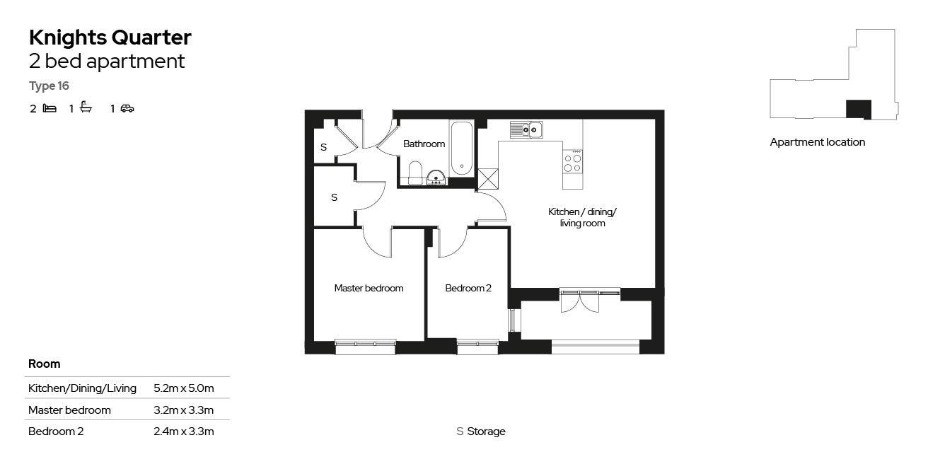 Knights Quarter apartment type 16