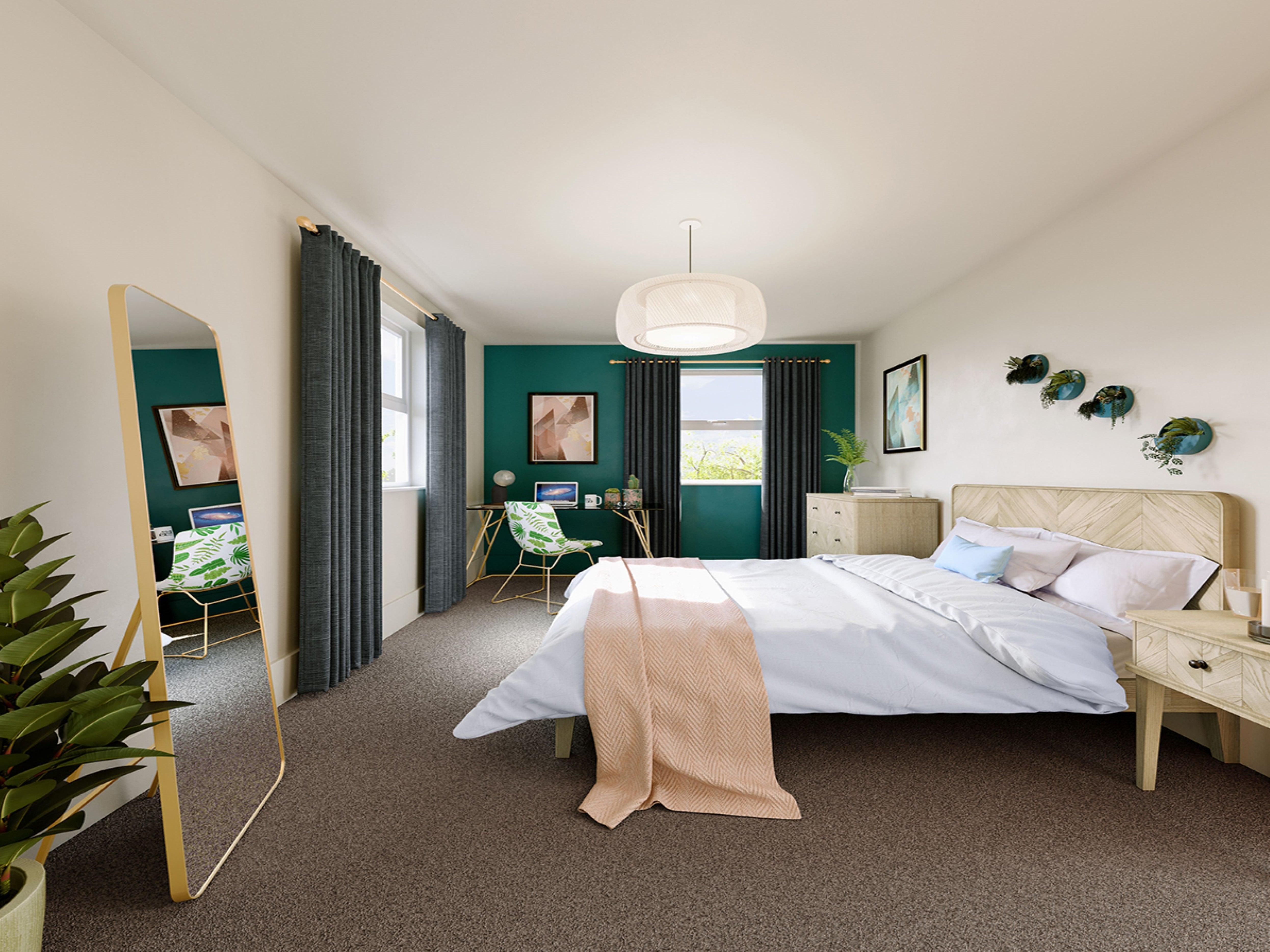 Hayne Farm interior CGI bedroom