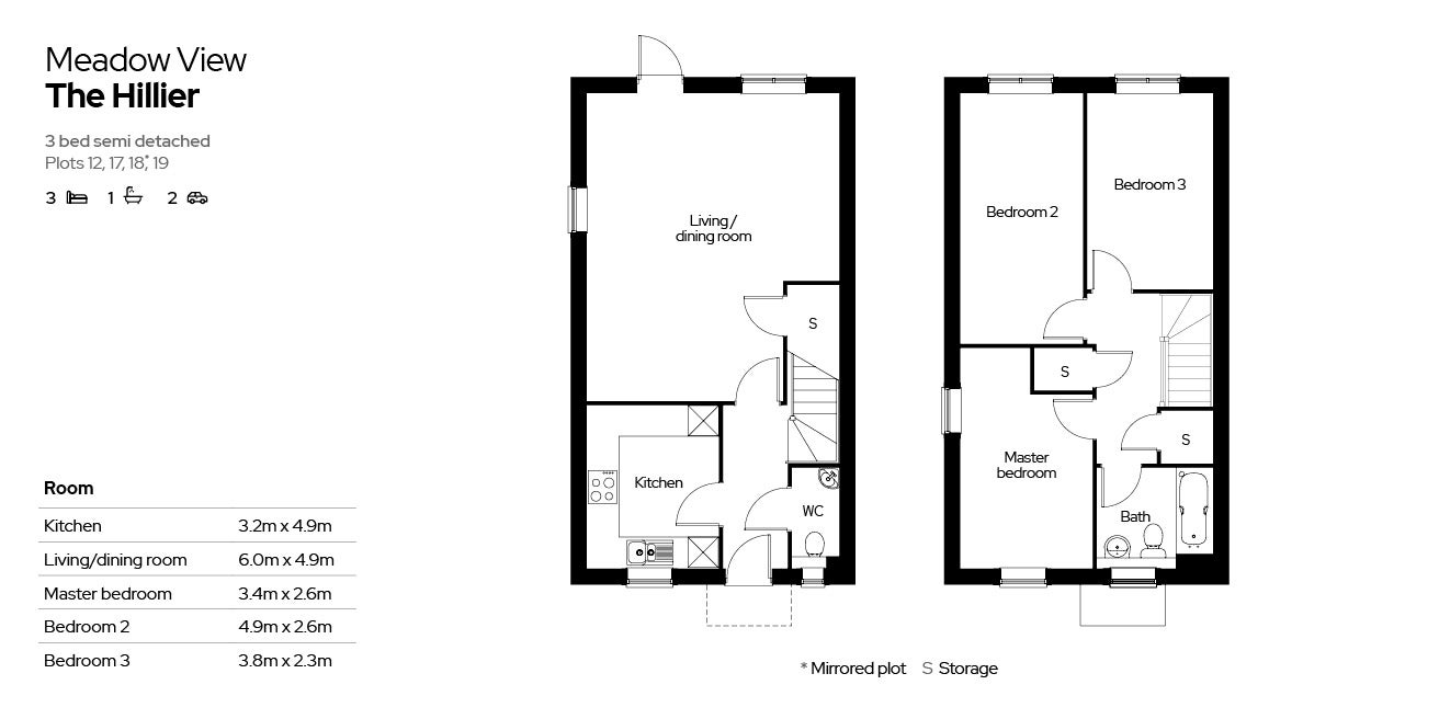 Meadow View, The Hillier house type floor plan