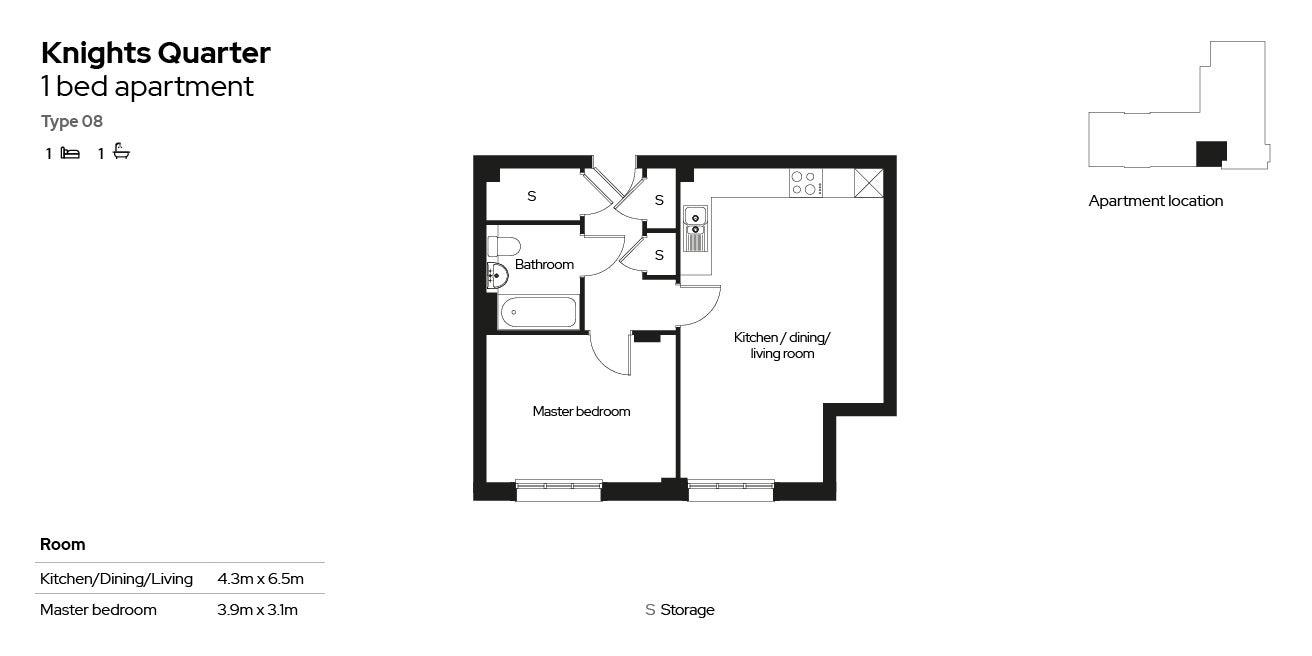 Knights Quarter apartment type 08