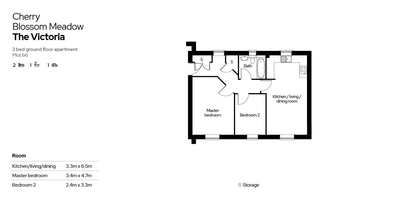 Cherry Blossom Meadow plot 66 floor plan