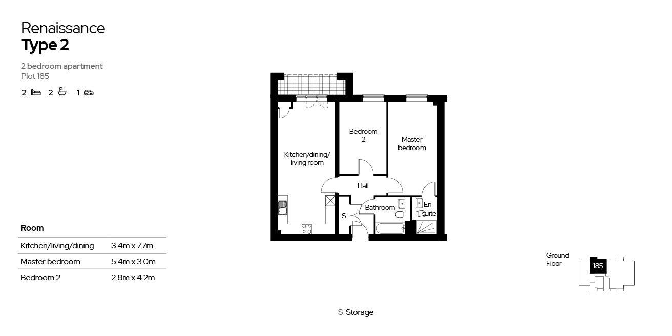 Renaissance, Block 4, 2 beds, plot 185