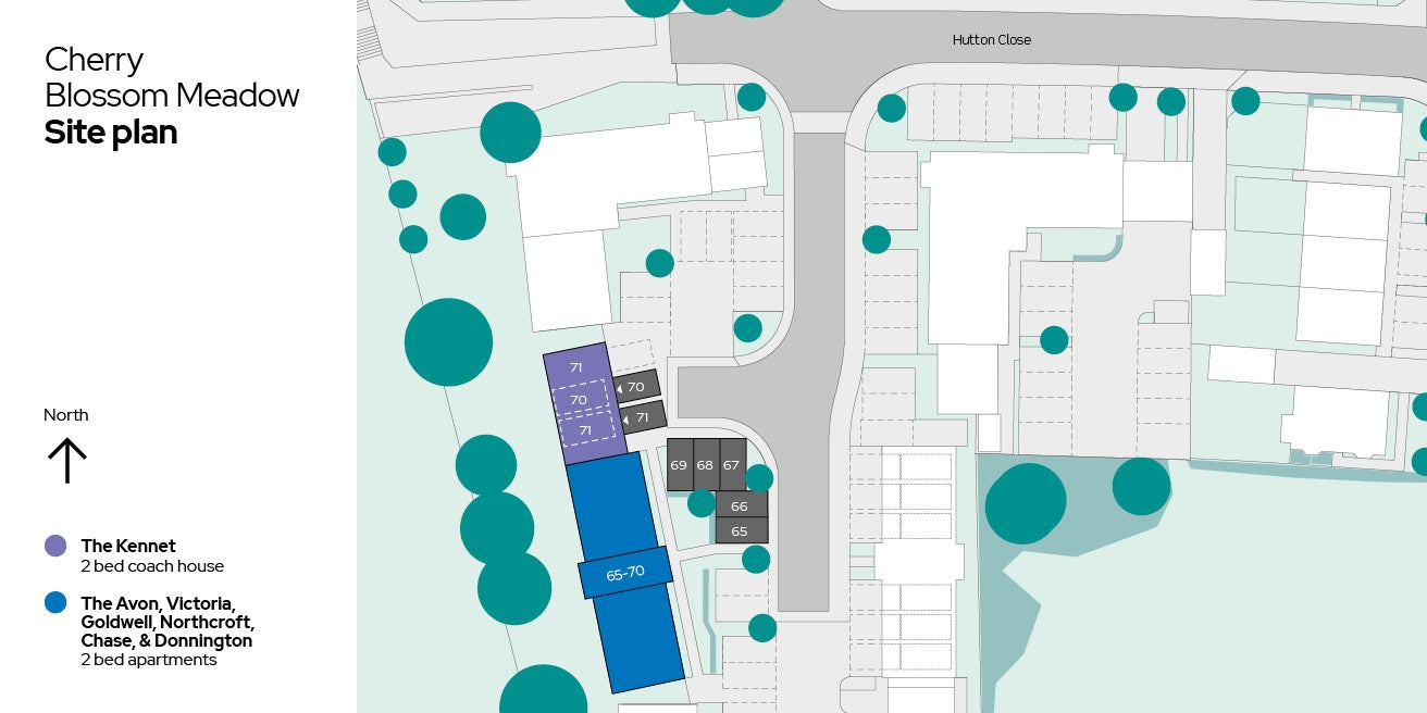 Cherry Blossom Meadow apartments site plan