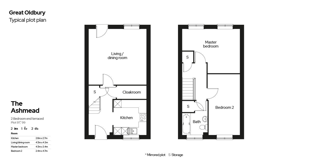 Great Oldbury Floor Plan Plots 97,99