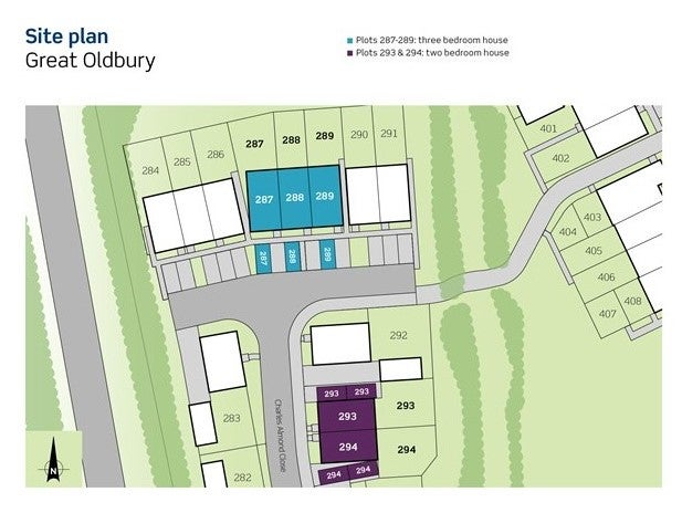 Great Oldbury Site Plan Plots 287-289