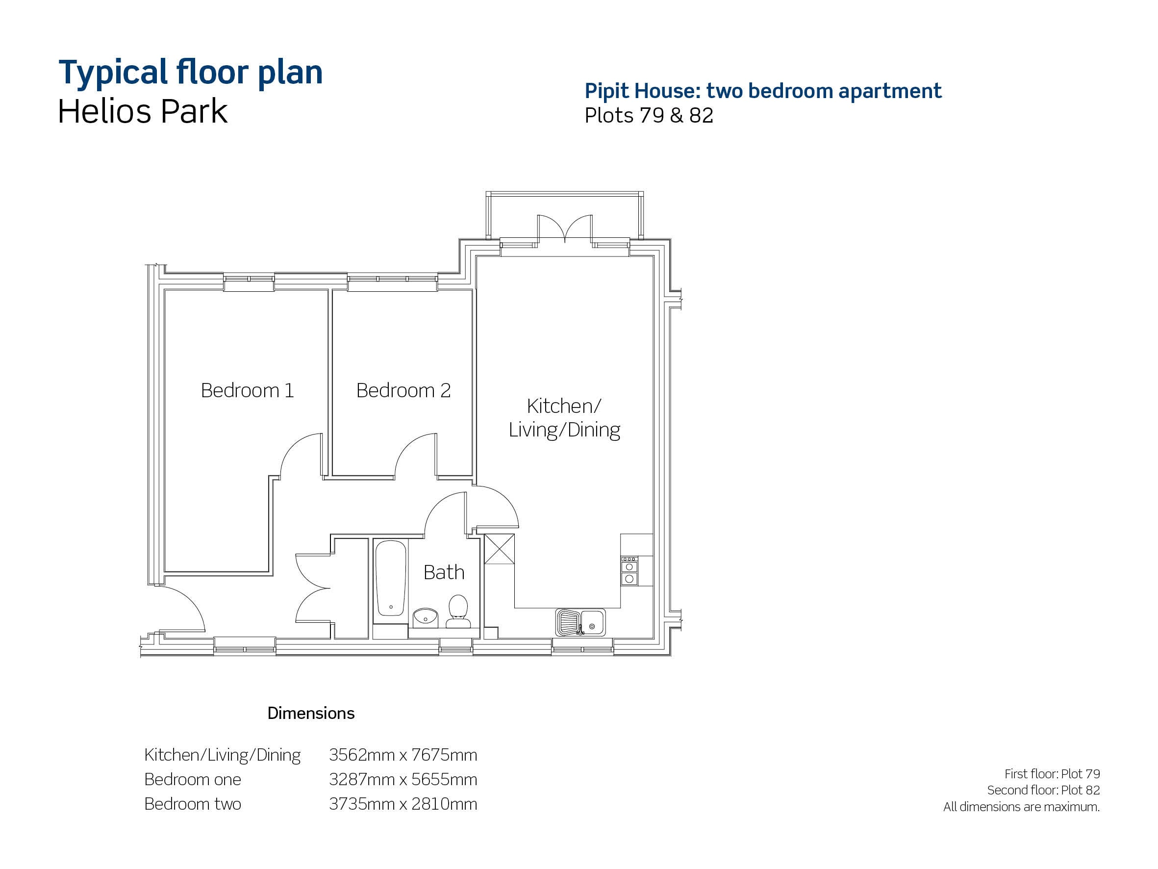 Helios Park plots 79 & 82 floor plan