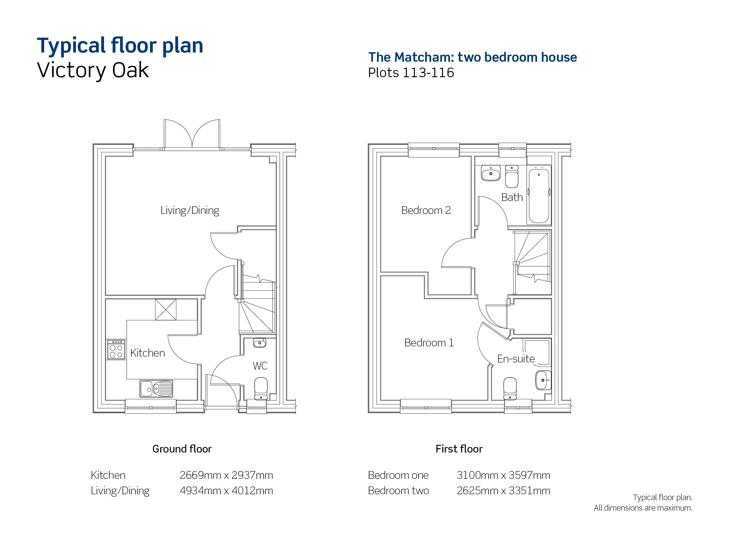 Drawing of Victory Oak The Matcham floor plan