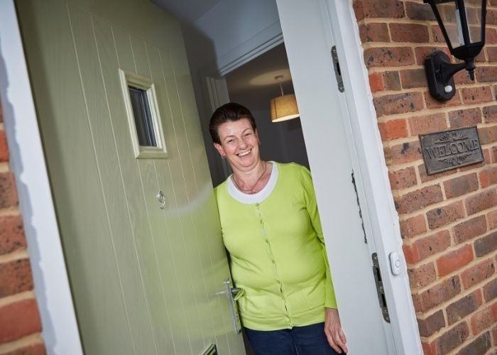 Rose in her new shared ownership home