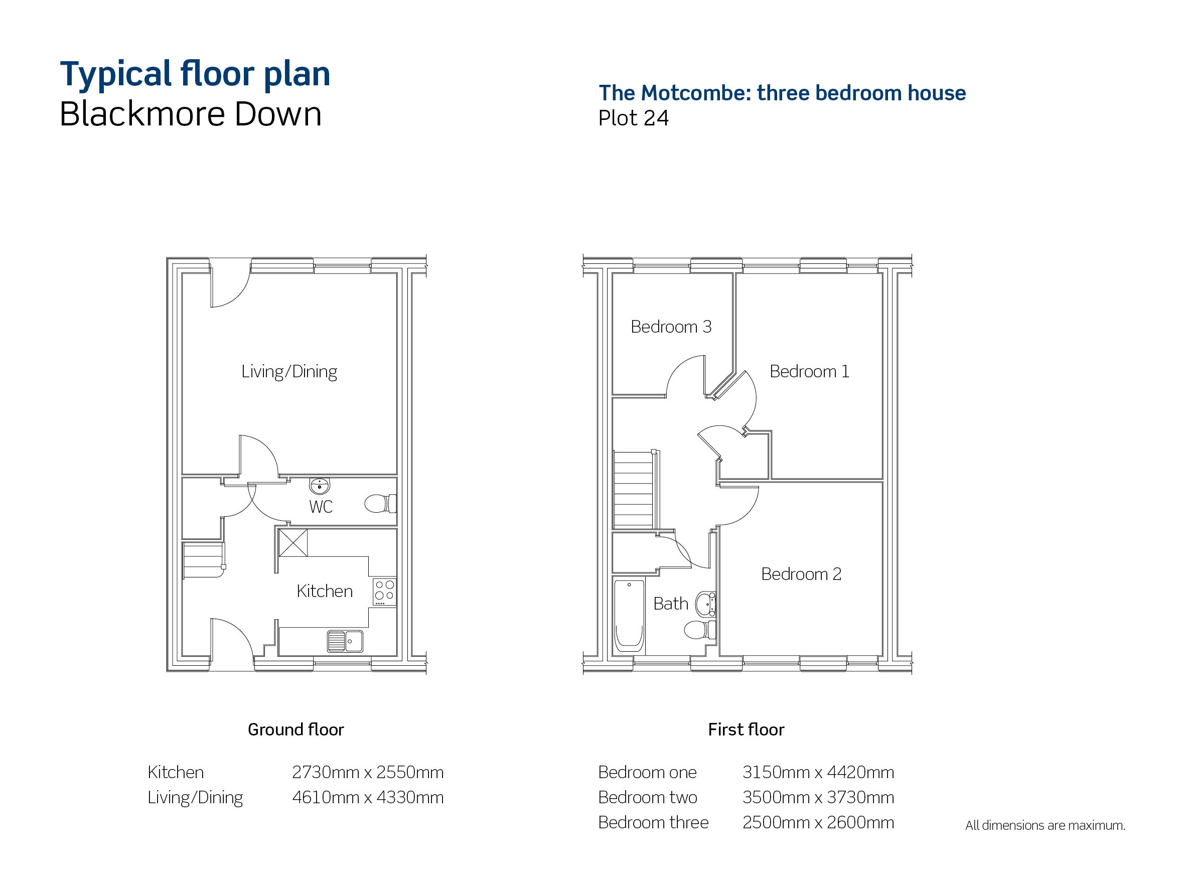Drawing of Blackmore Down The Motcombe floor plan