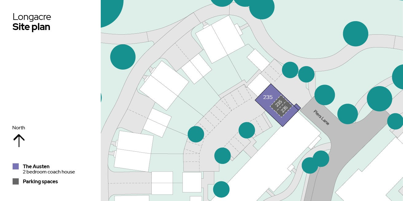 Longacre site plan - Plot 235