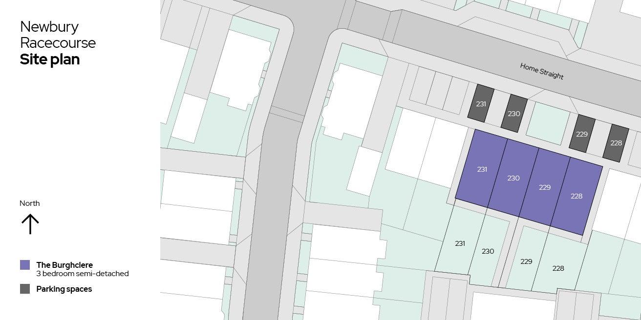 Site plan - Plots 228-231