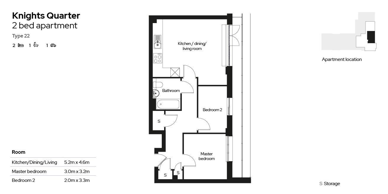 Knights Quarter apartment type 22