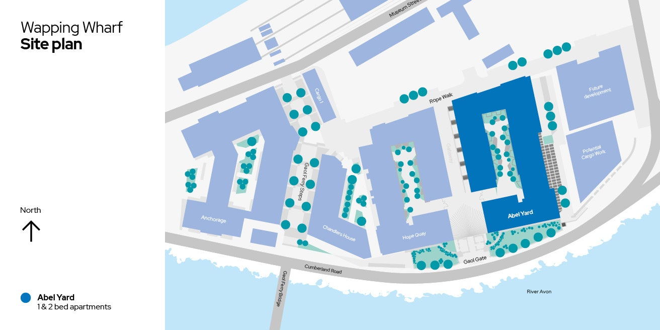 Wapping Wharf site plan