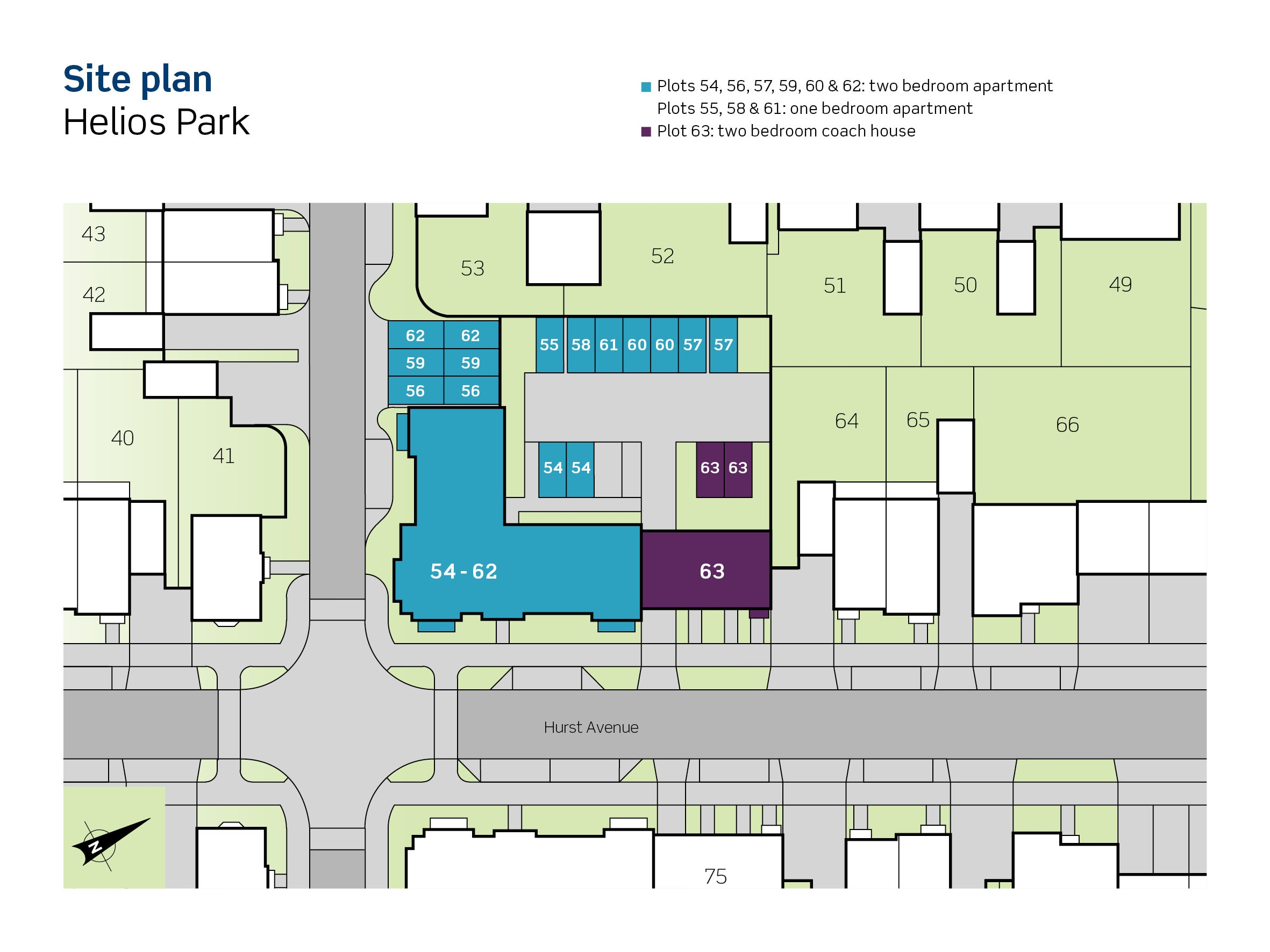 An image of Phase 1 site plan at Helios Park
