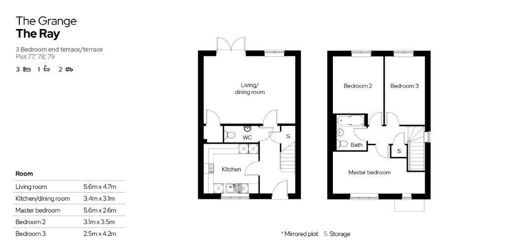 The Grange Floor Plan Plots 77-79