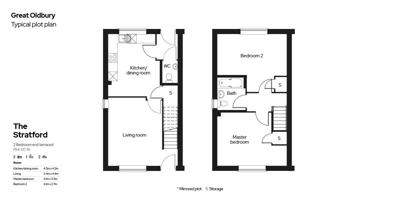 Great Oldbury Floor Plan Plots 33,35