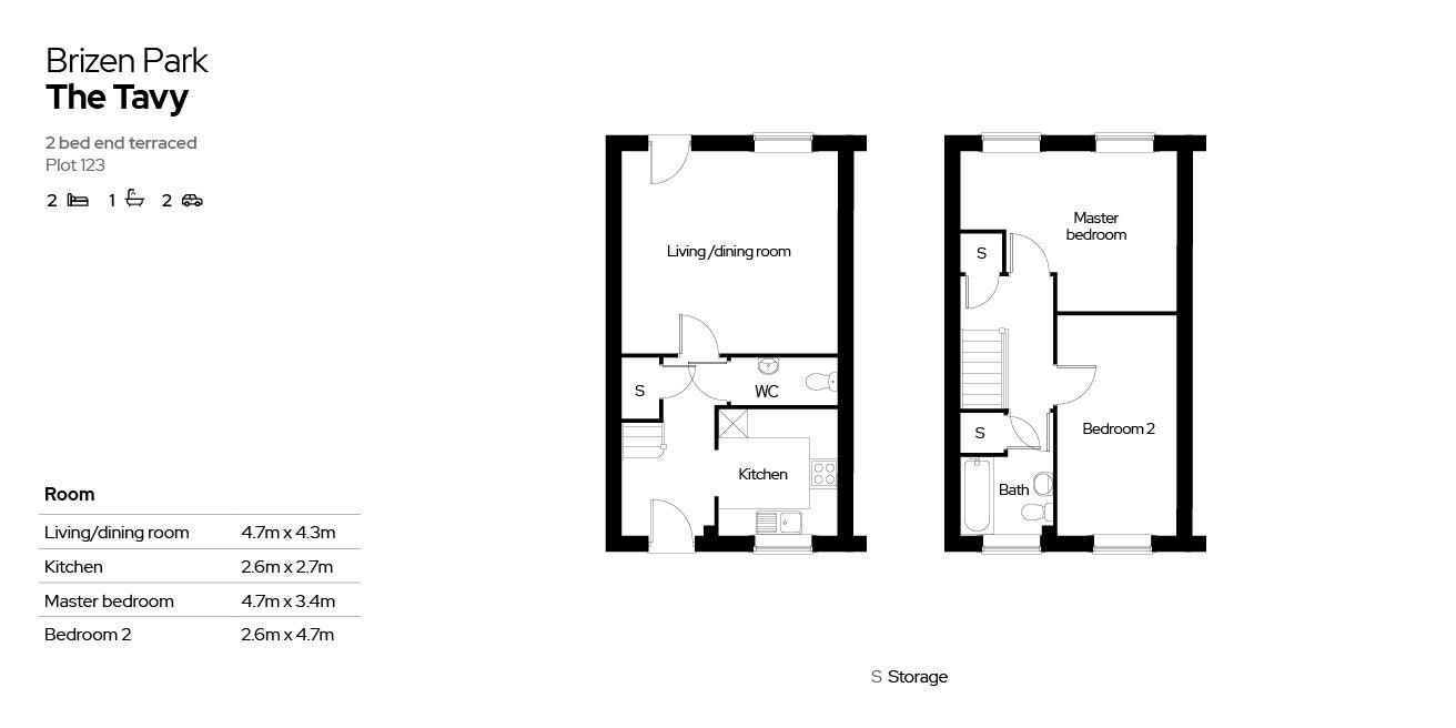 Brizen Park floorplan - plot 123