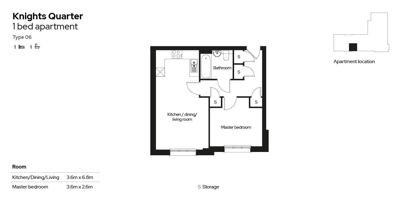 Knights Quarter apartment type 06