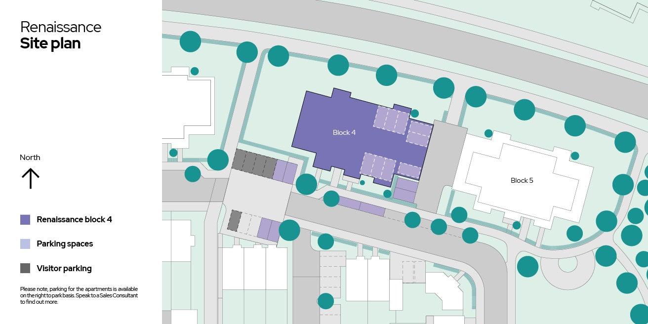 Renaissance, Block 4, site plan
