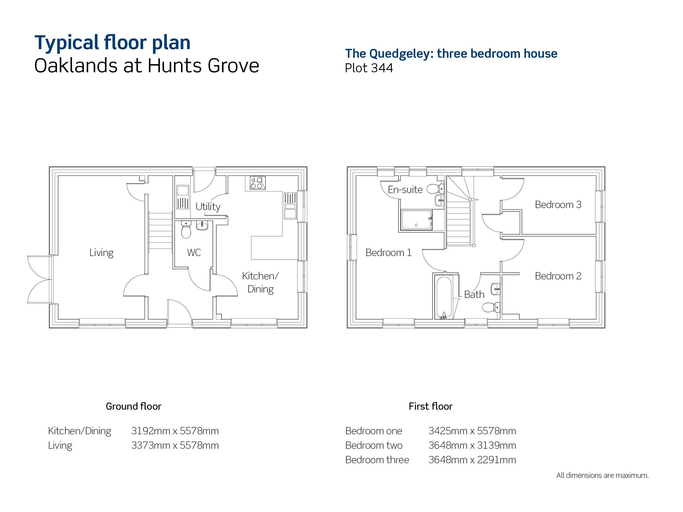 Drawing of Oaklands The Quedgeley floor plan