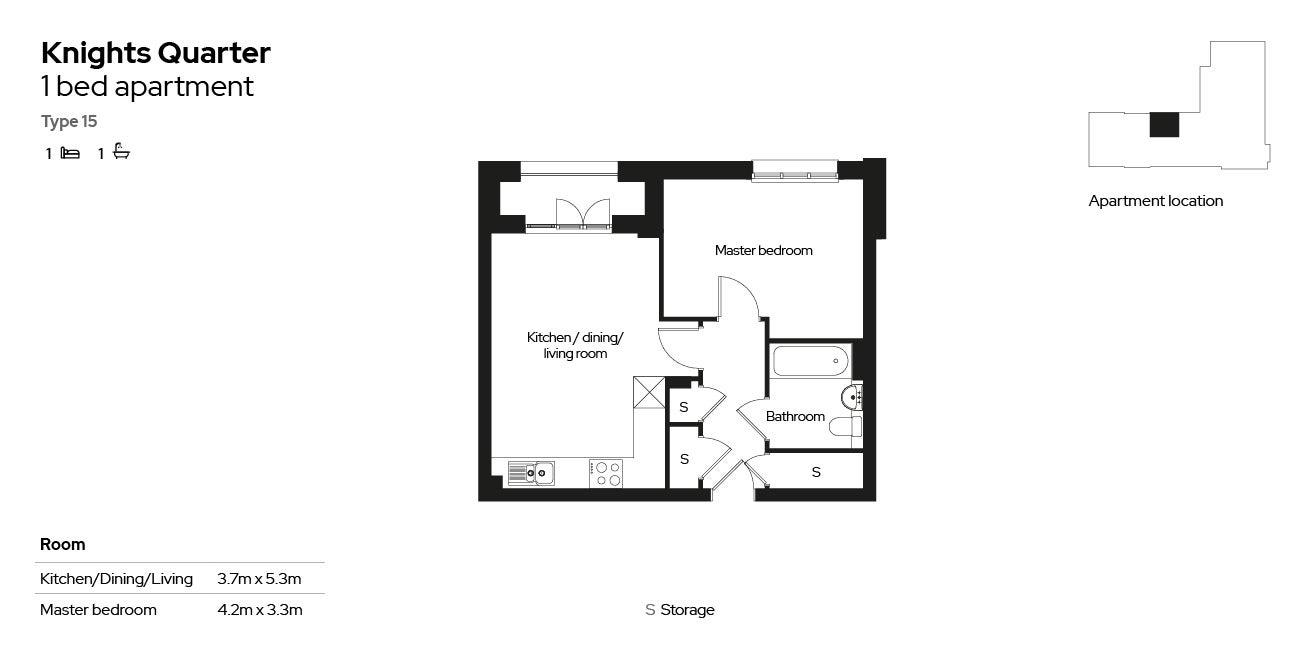 Knights Quarter apartment type 15