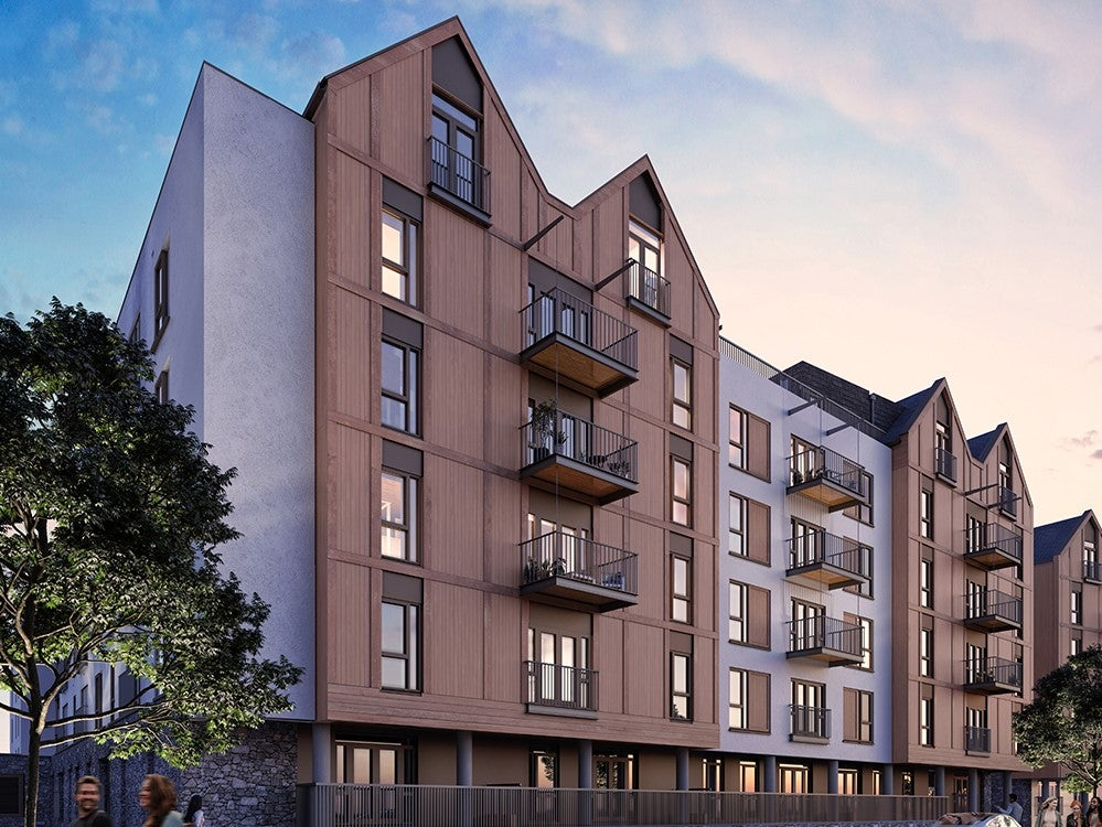 External CGI of Wapping Wharf shared ownership homes