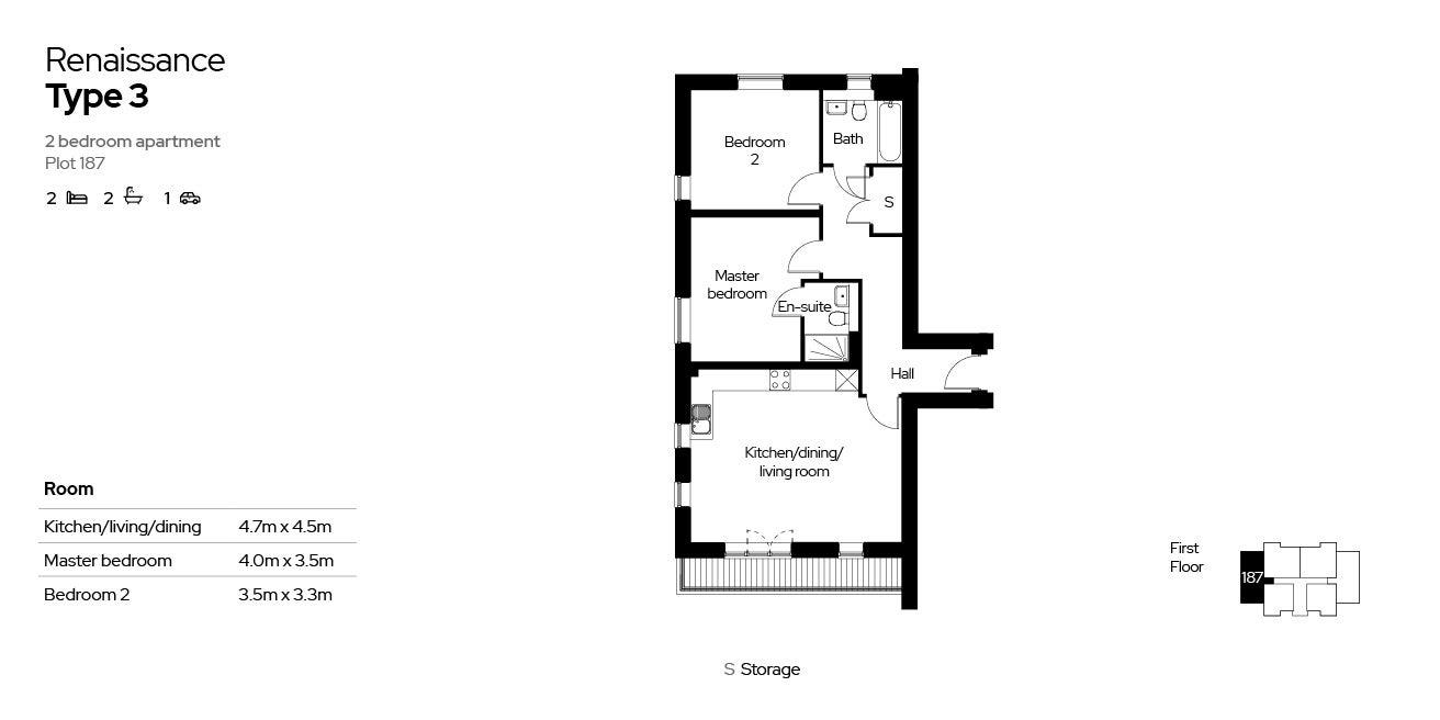 Renaissance, Block 4, 2 beds, plot 187