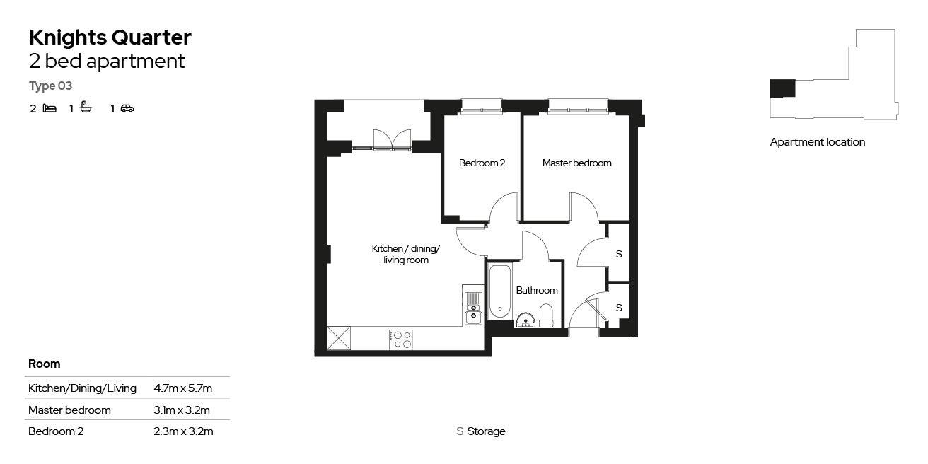 Knights Quarter apartment type 03