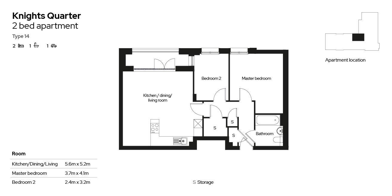 Knights Quarter apartment type 14