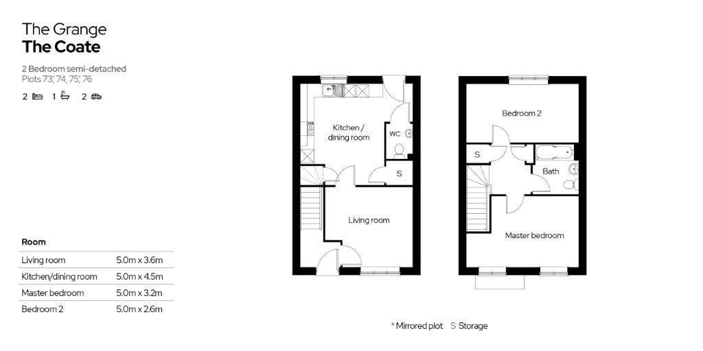 The Grange Floor Plan Plots 73-76