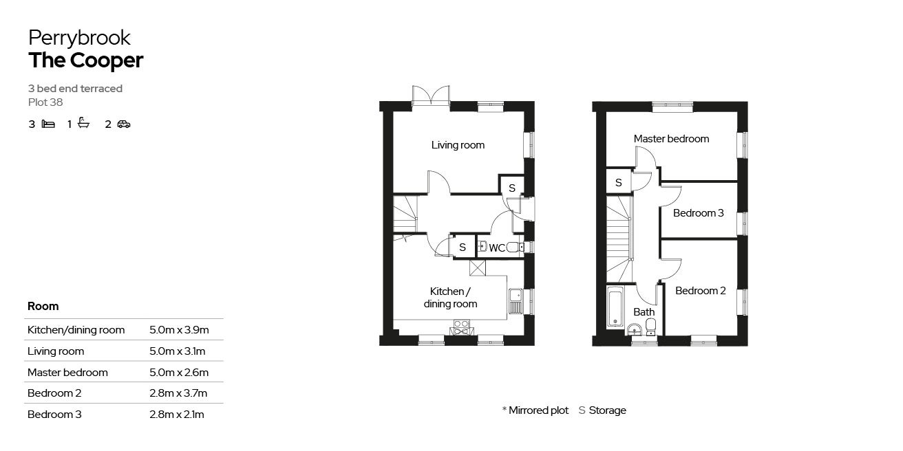 Perrybrook - Plot 38 floor plan