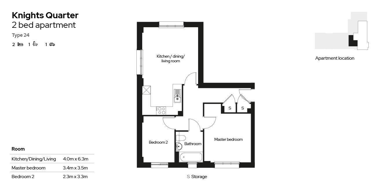 Knights Quarter apartment type 24
