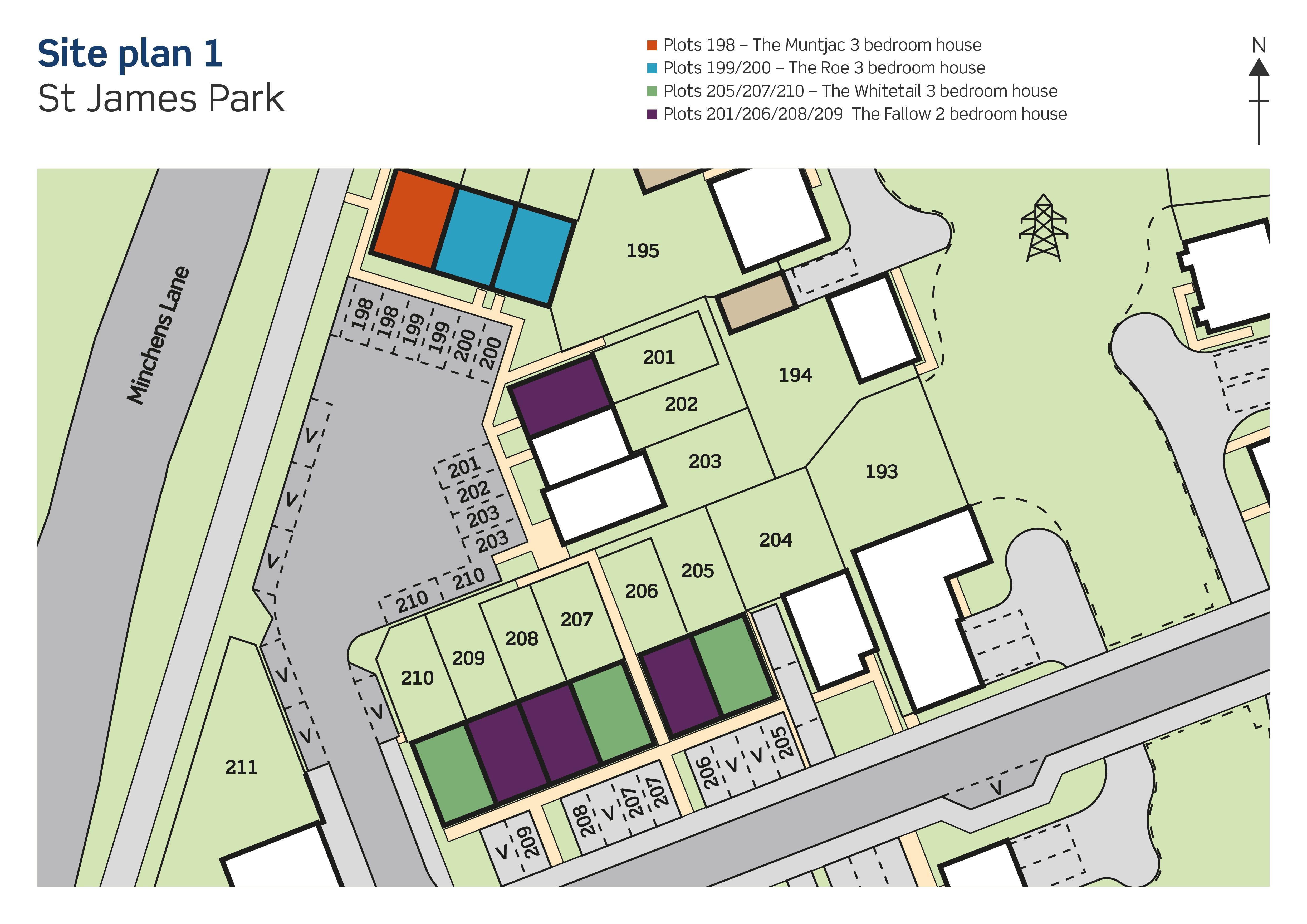 St James Park the Roe site plan