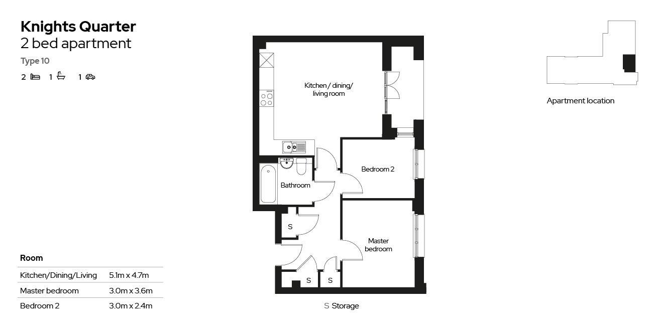 Knights Quarter apartment type 10