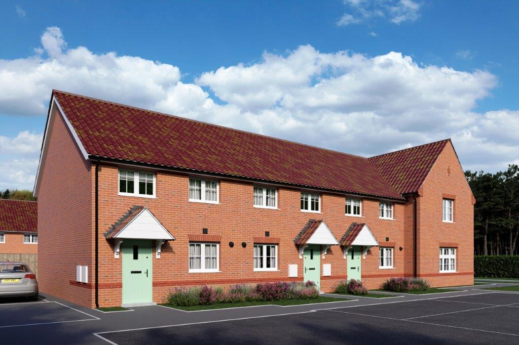 CGI image of plots 120-123 located at Brizen Park