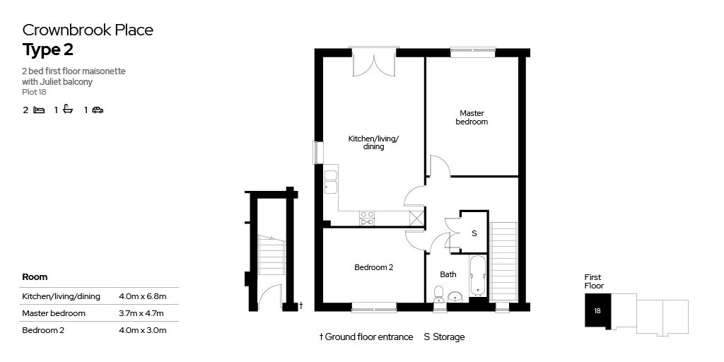 Crownbrook Place, plot 18 floor plan