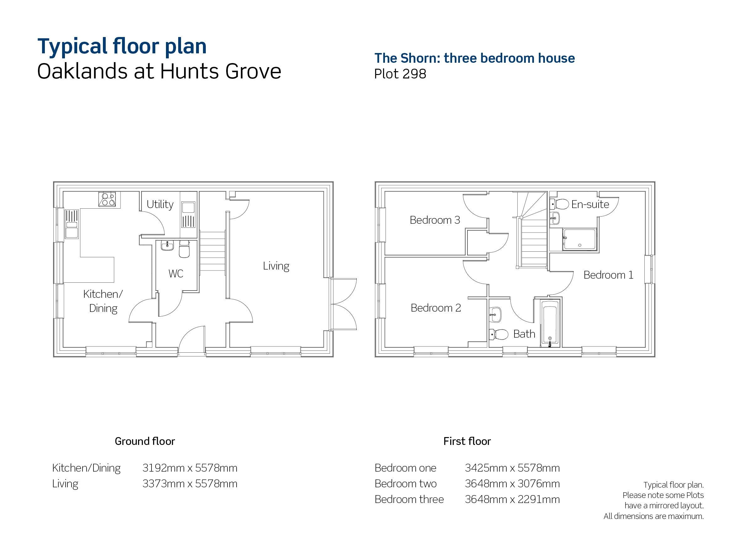 Drawing of Oaklands The Shorn floor plan