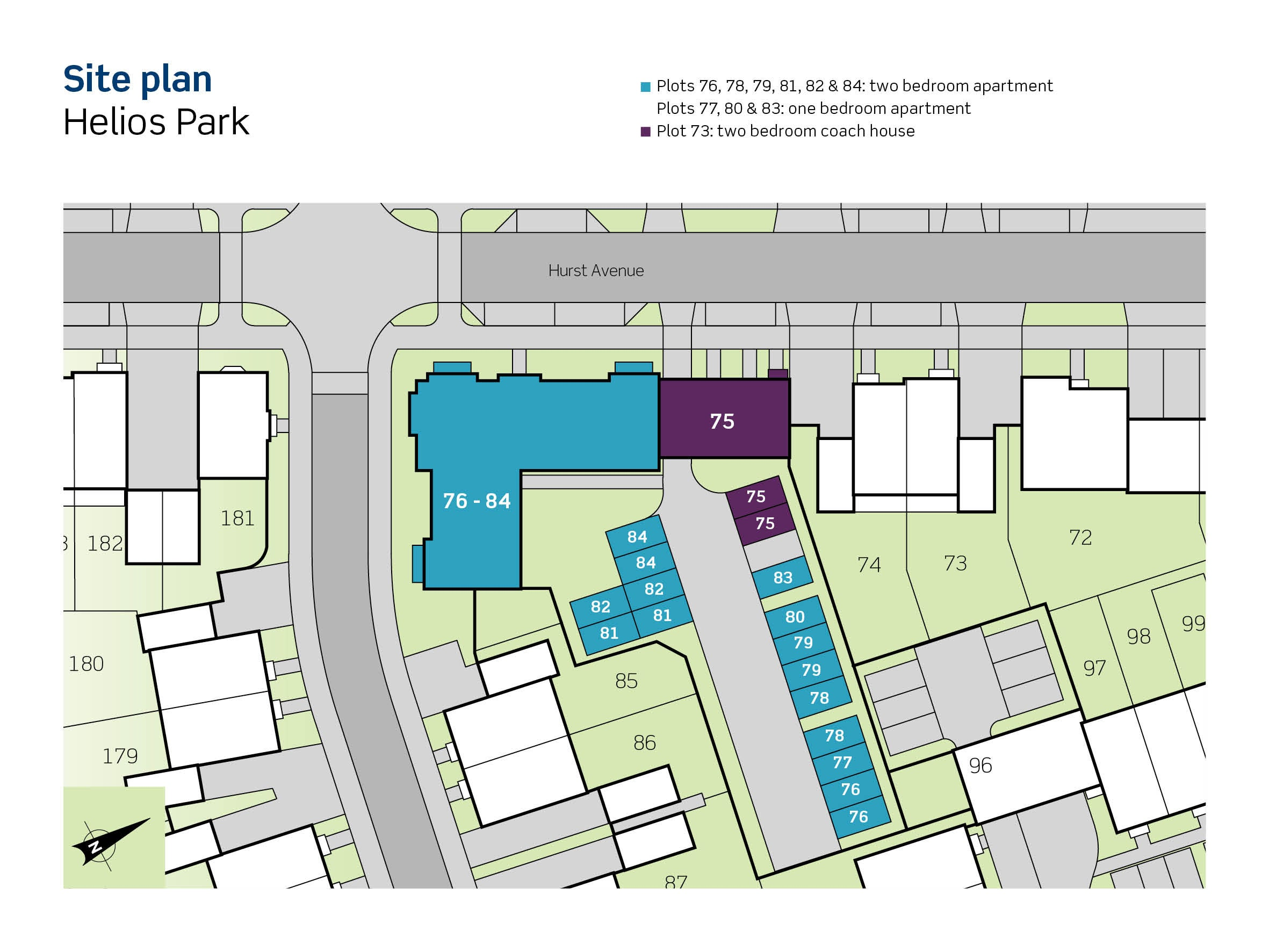Image of site plan for Phase 2 at Helios Park